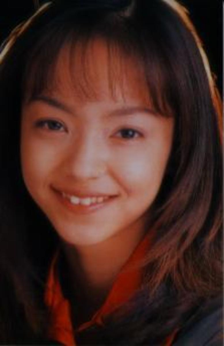 Namie during her earliest idol days.