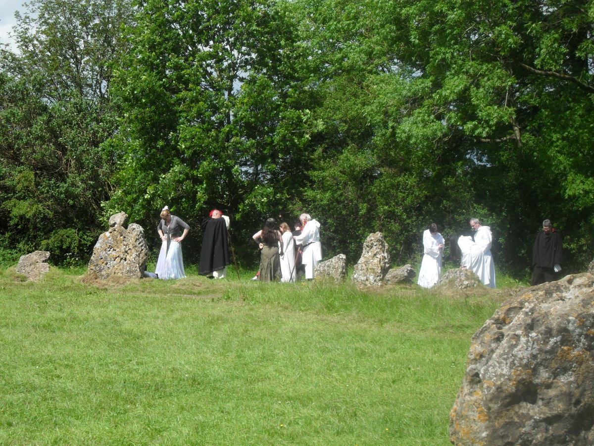 Druids, pre-ceremony.