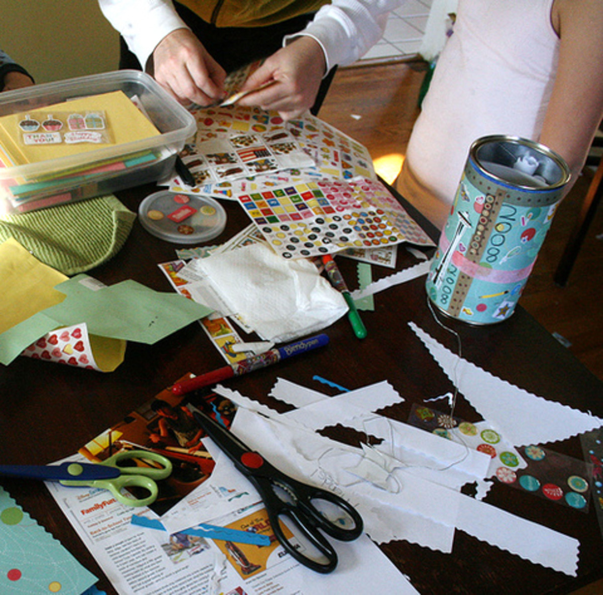 Making a family time capsule
