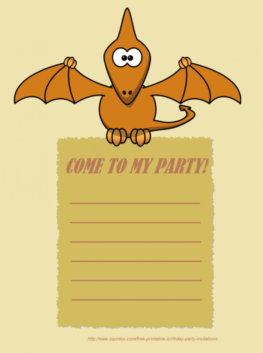 My dinosaur party invite, you are free to use it! Just right click and save image.