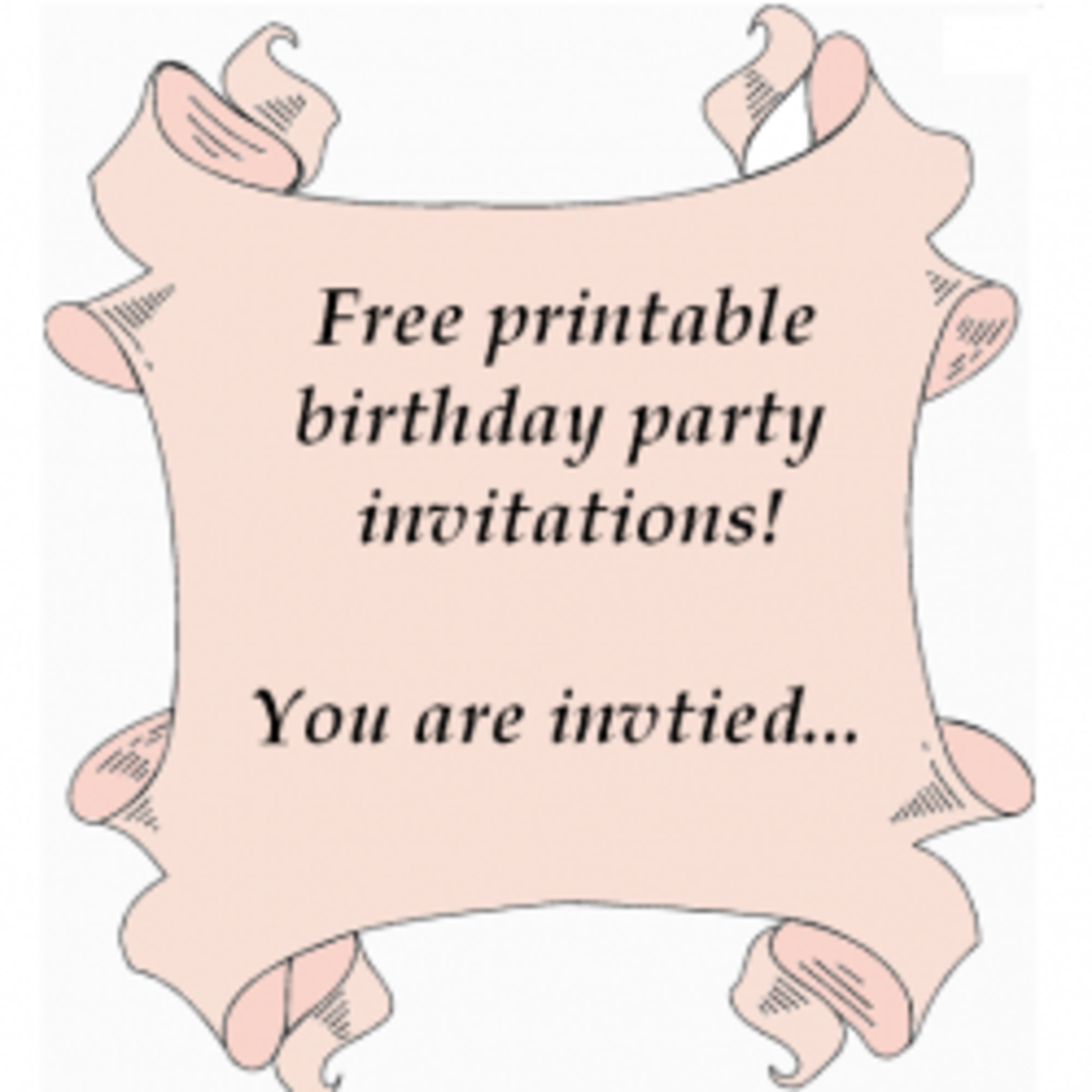 Free printable birthday party invitations templates hubpages free printable birthday party invitations templates filmwisefo Images