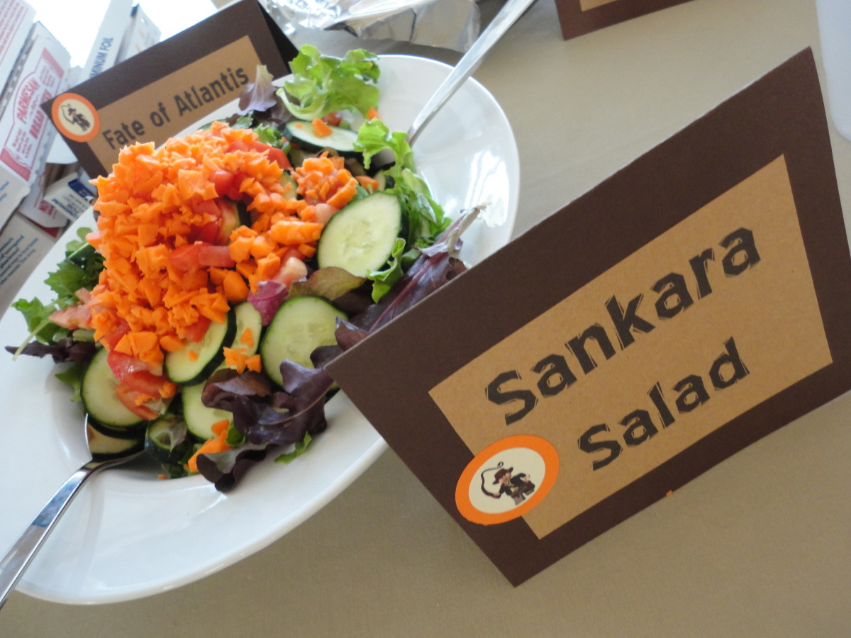 Wikipedia search helped me turn this into an Indiana Jones theme friendly, Sankara Salad!