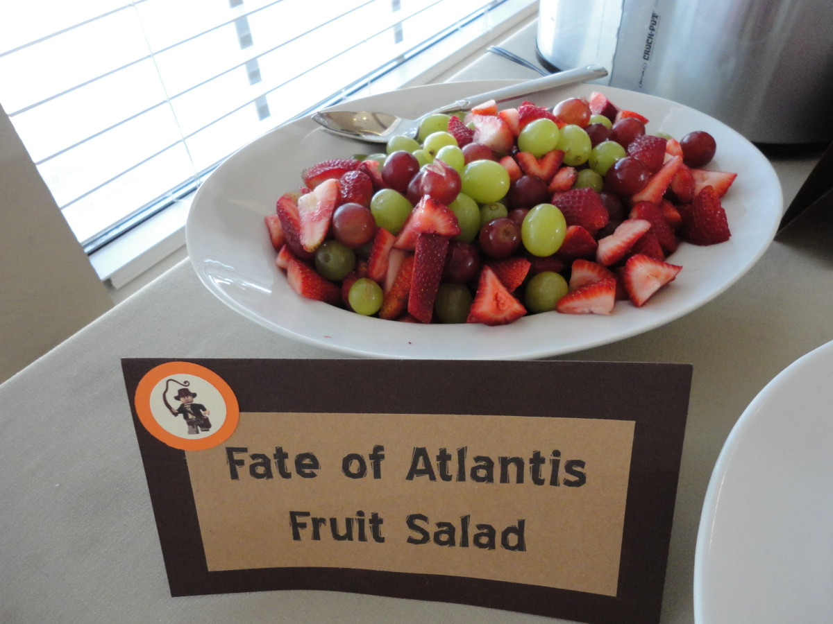 Simple signage turns a boring fruit salad in to Fate of Atlantis fruit salad!
