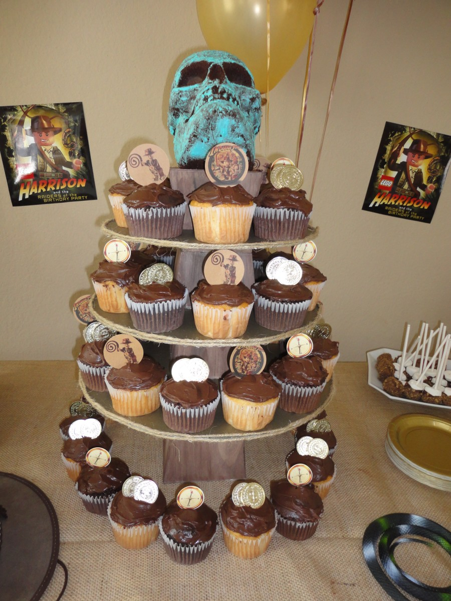 Indiana Jones Crystal Skull Cupcake Tower