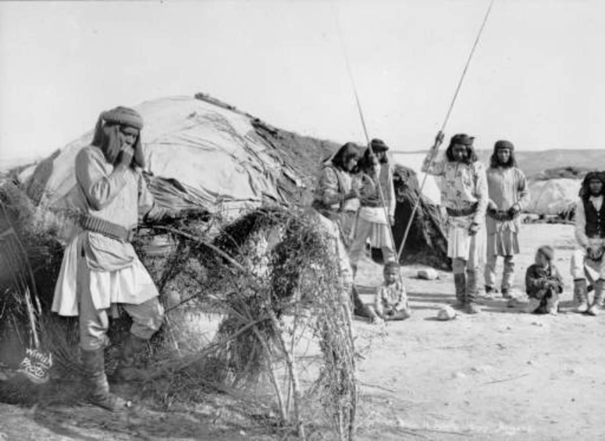 Apache Camp in Arizona 1880
