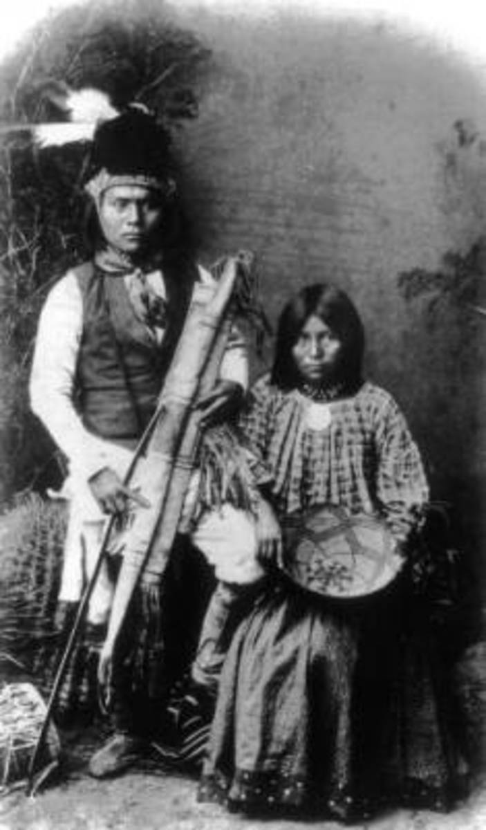 An Apache Man and Woman
