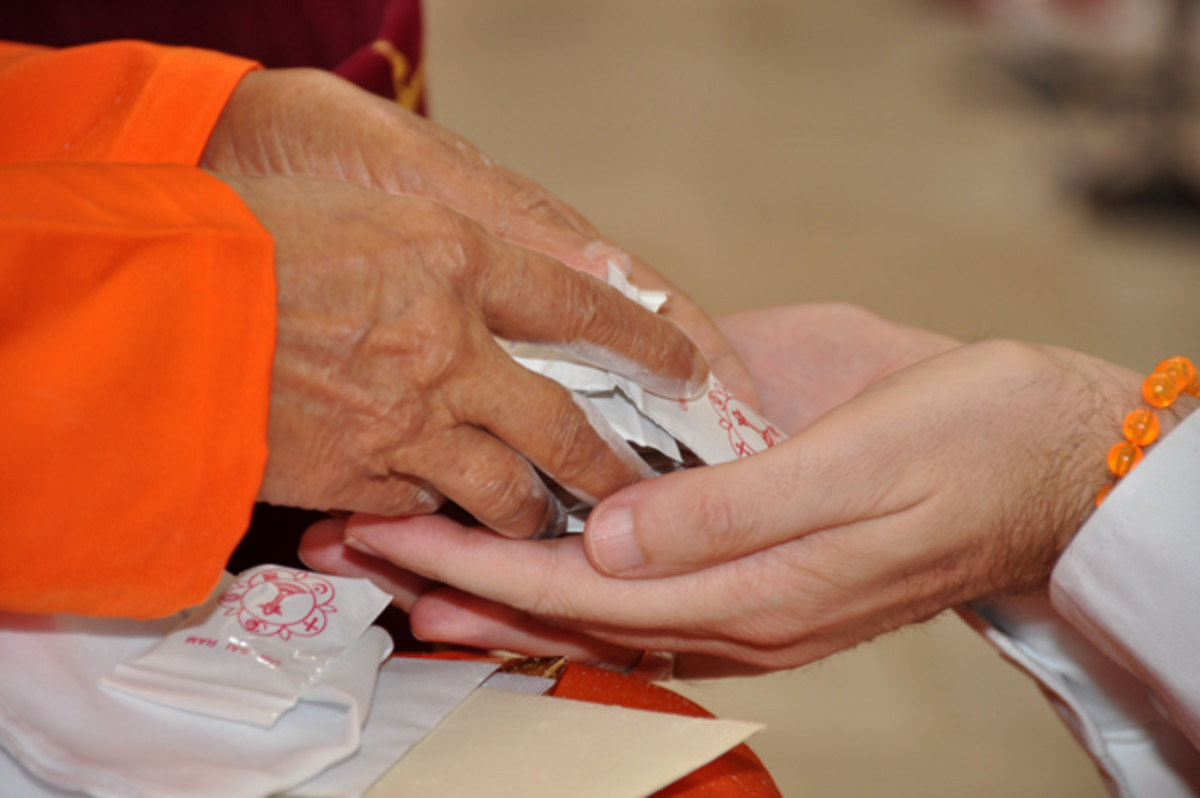 When Swami blesses by giving vibhuti packets, it is often considered as a positive response. In my case, I was still in doubt...