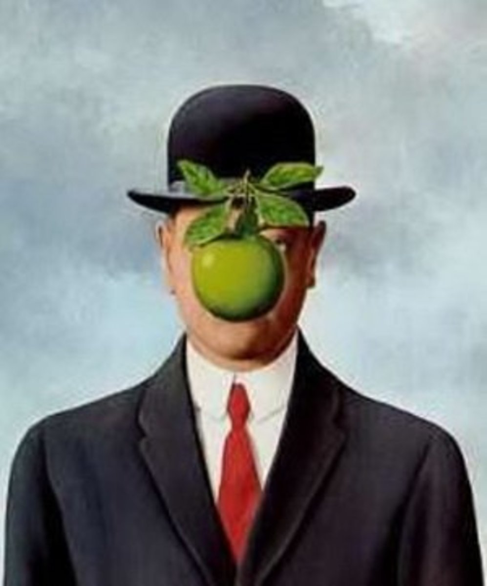 Official portrait of Mr. I. M. Clueless courtesy of the artist, Rene Magritte