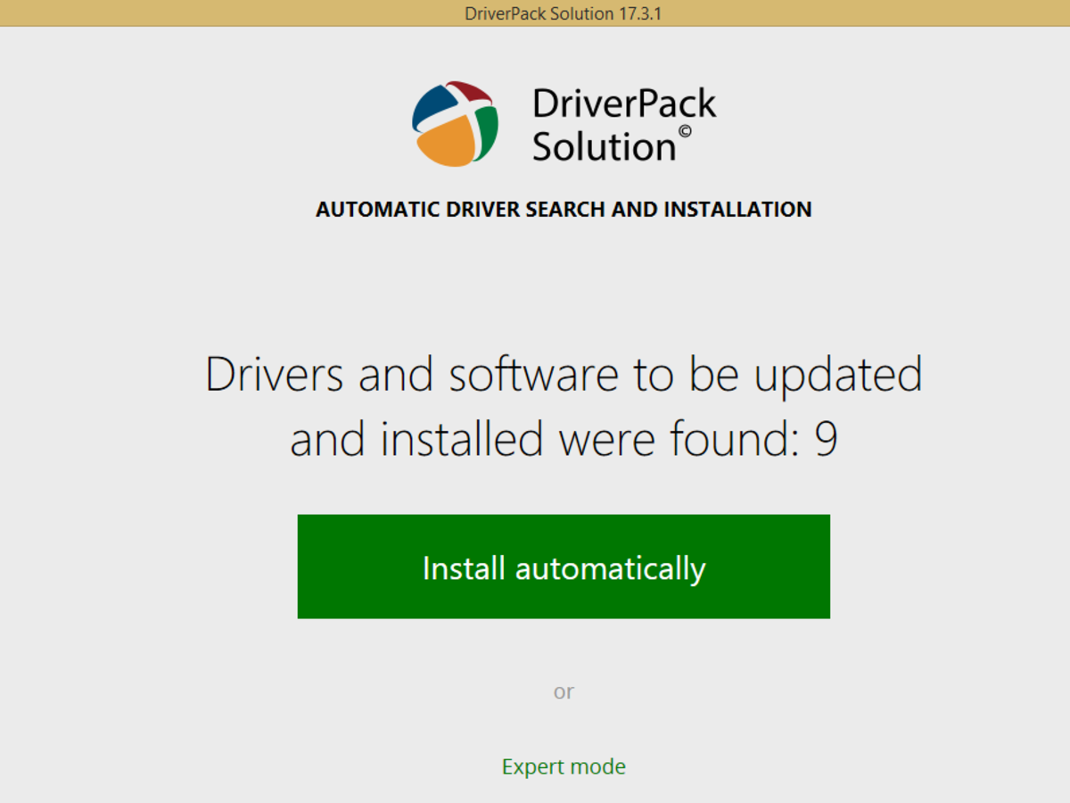 DriverPack 17 supports driver installation in Windows 10