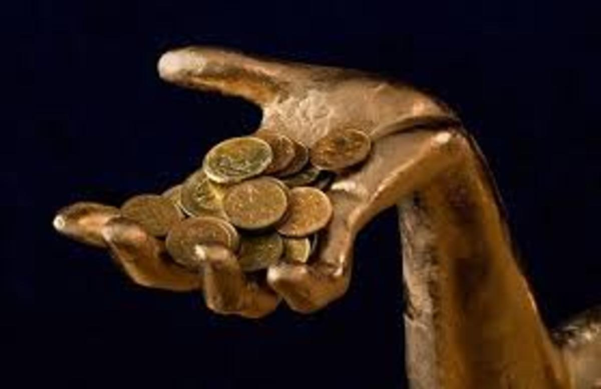 God of money (Mammon). Cannot serve God and Mammon.