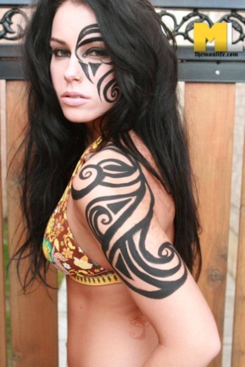 Tribal makeup designs tips and tutorials hubpages for Halloween makeup tattoos