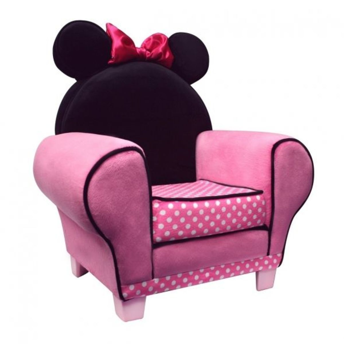 Pink and Black Minnie Mouse Chair