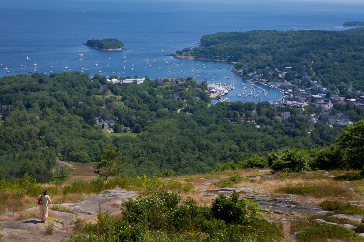 View of Camden, ME from Mt. Battie Tower