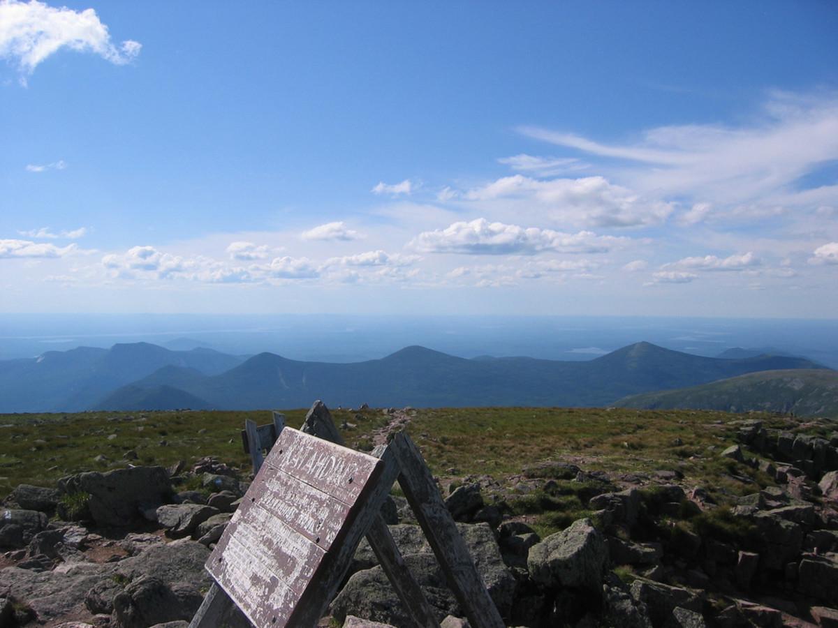 View from the Summit of Mount Katahdin