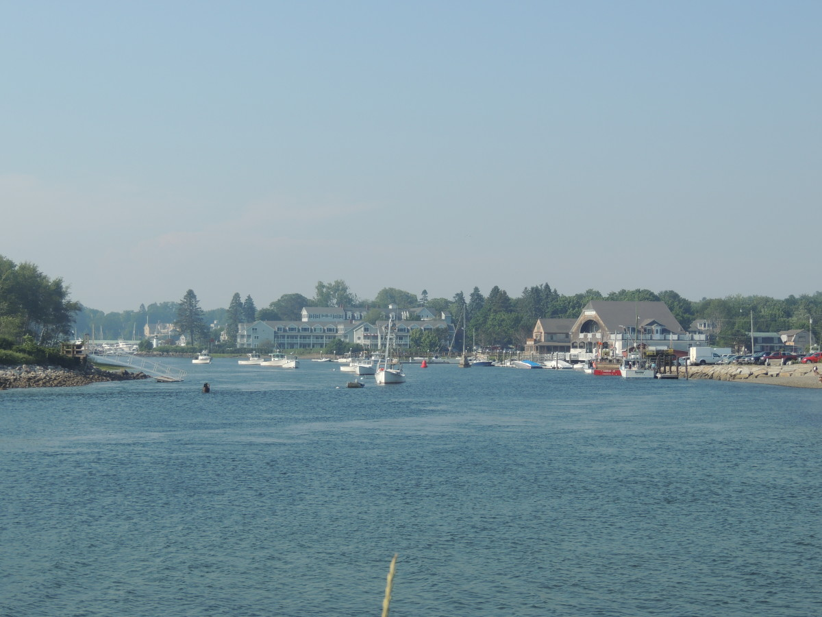 Harbor area in in Kennebunkport, Maine