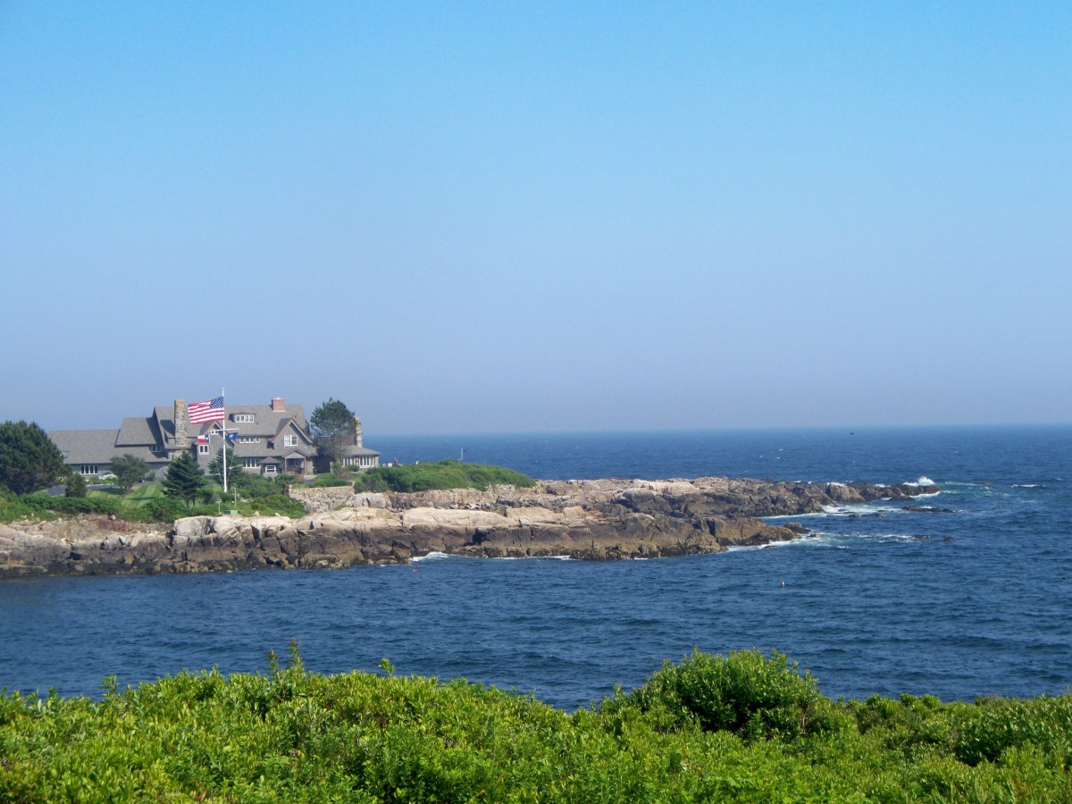President George H.W. Bush's vacation home in Kennebunkport, Maine