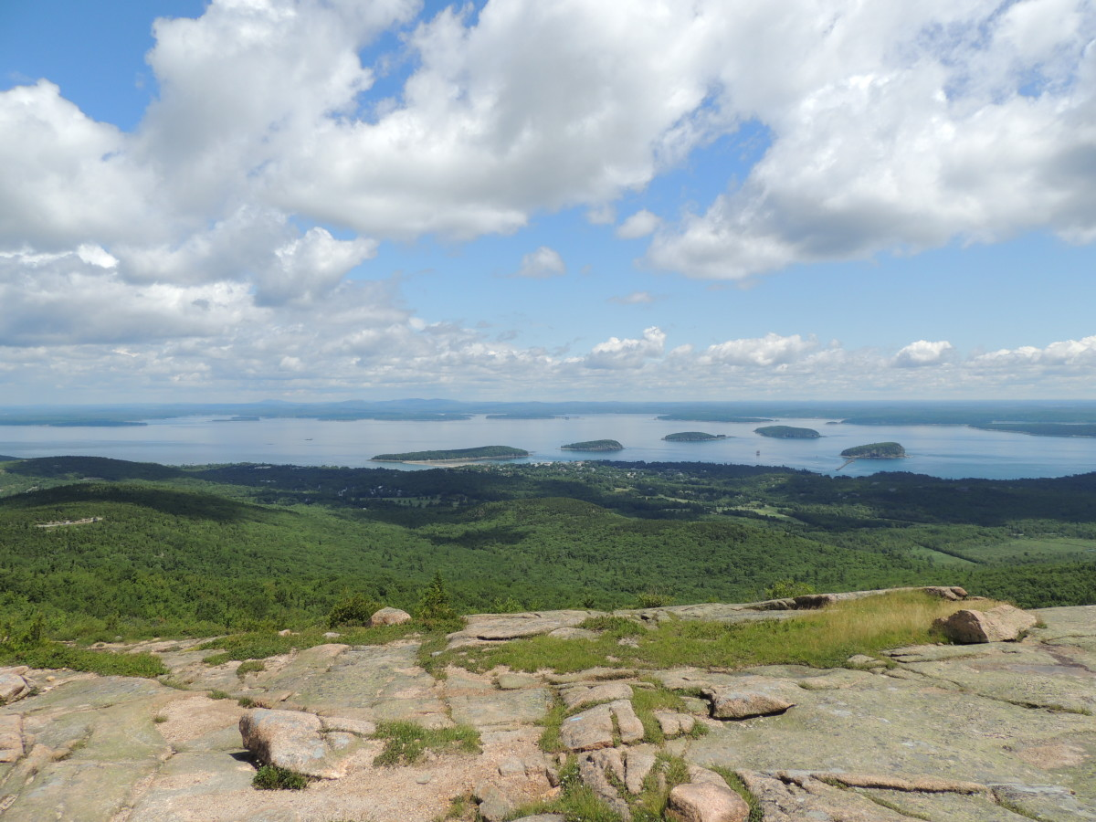 View from Cadillac Mountain @ Acadia National Park
