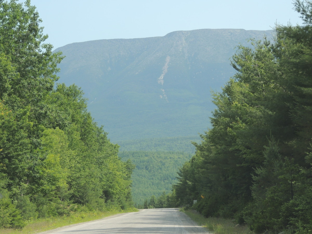 Road leading to Baxter State Park