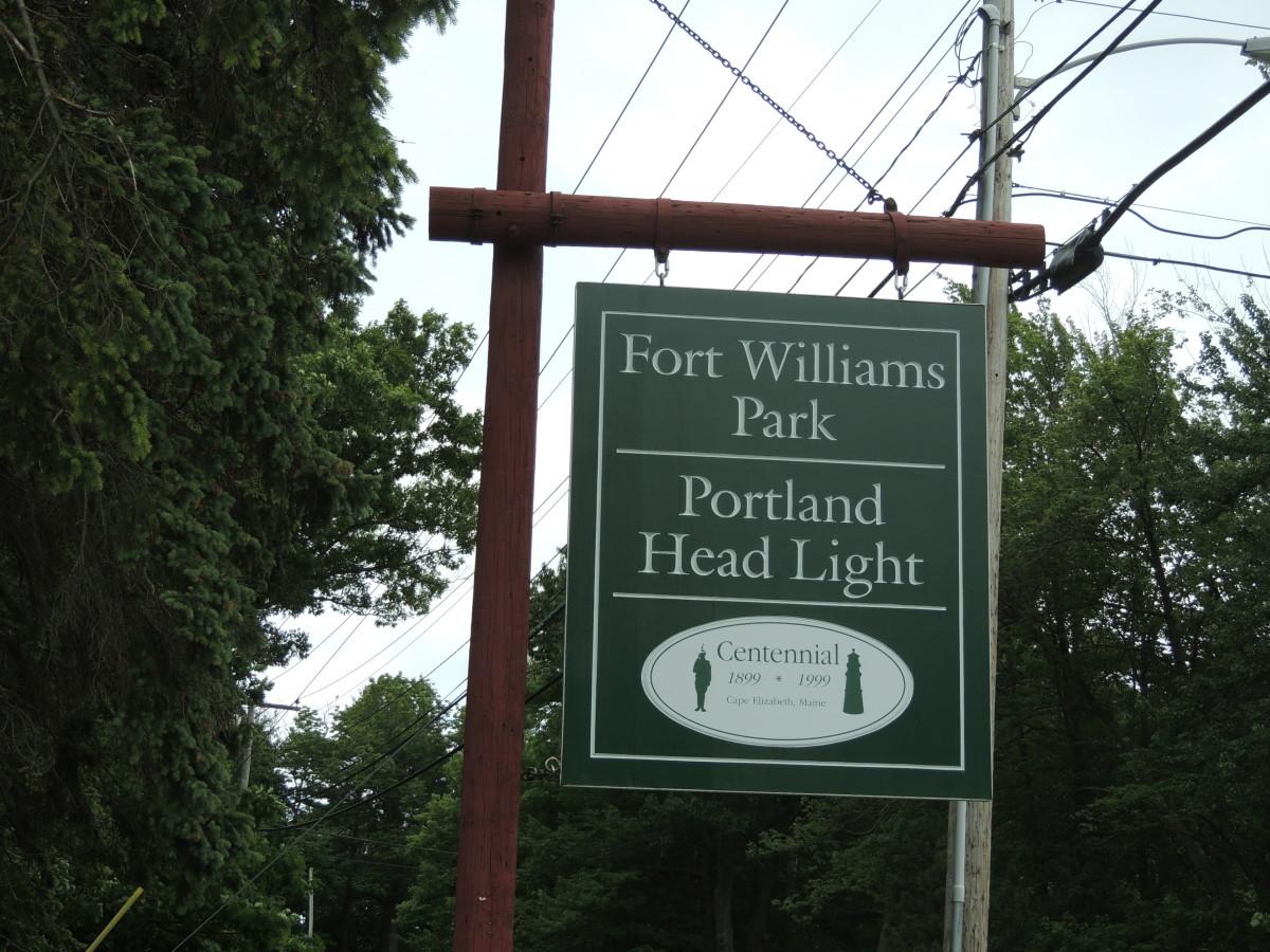 Portland Head Light Sign
