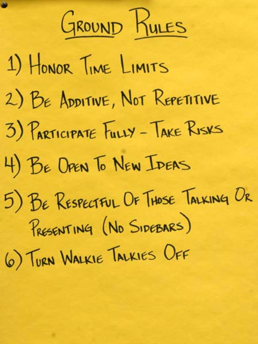 ways to establish ground rules with learners