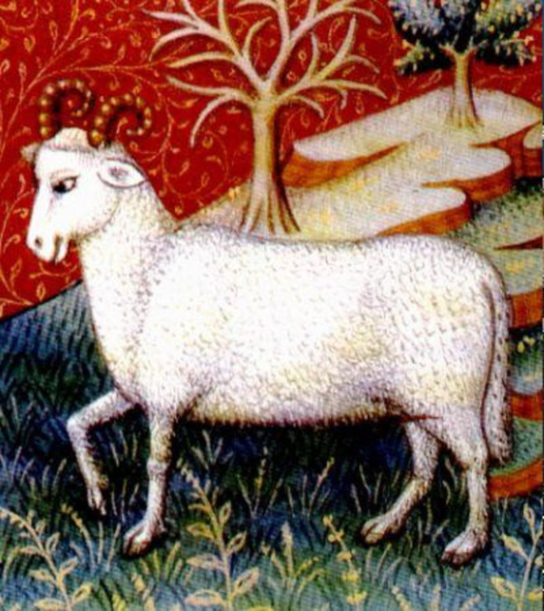 The ram represents male fertility, courage, and strength.
