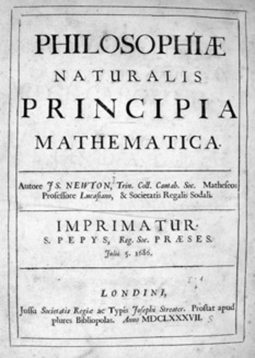 Title page of 'Principia', first edition (1687).