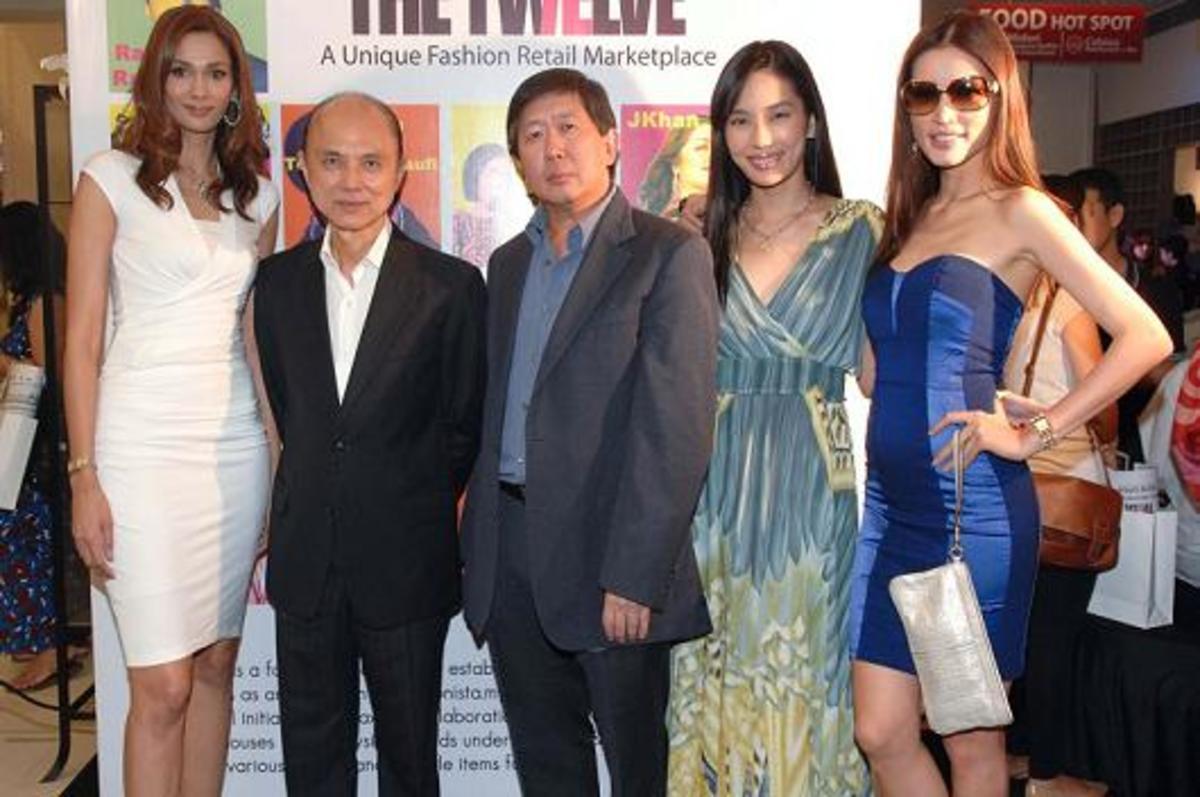 Jimmy Choo (second left)