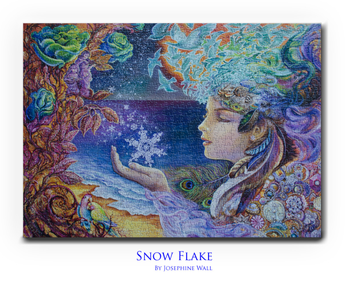 This beautiful Jigsaw Puzzle titled 'Snow Flake' was created by Josephine Wall