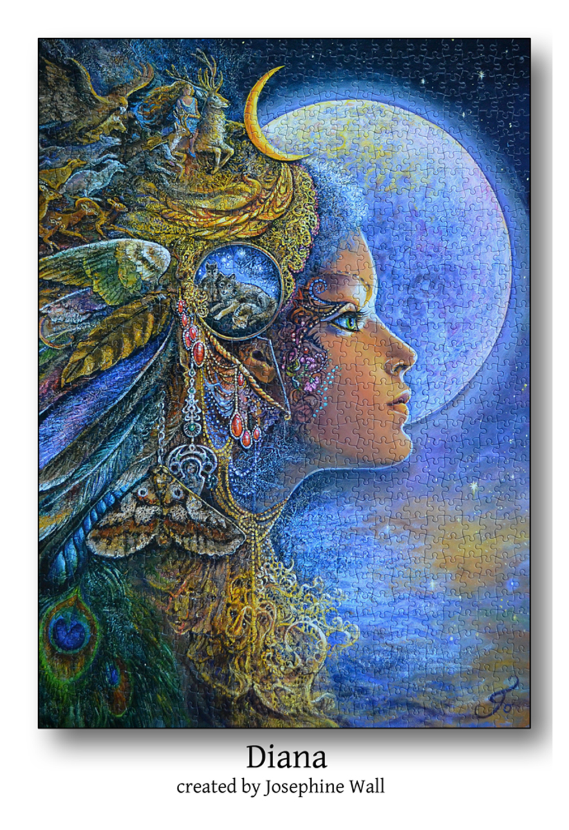 This Jigsaw Puzzle is titled Diana and is made from the artwork of 'Josephine Wall'