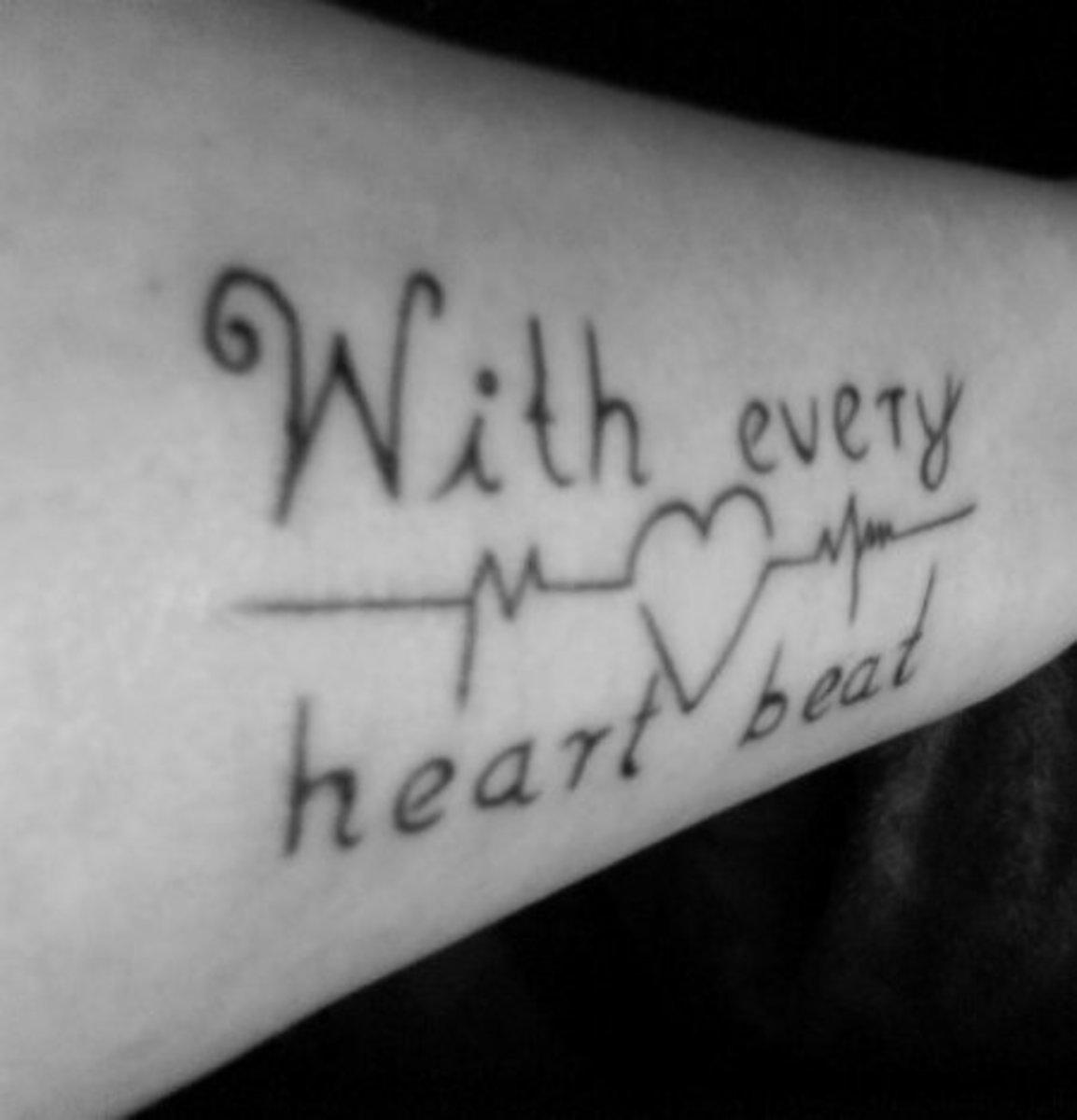 heartbeatekgtattoolinedesigngalleryphotos