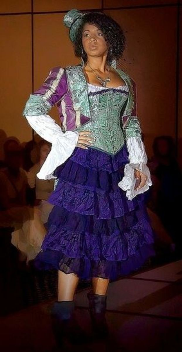 Corset and Lace Steampunk Costume