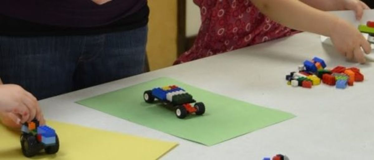 Option 1: Lego Car Assembly Line - Photo taken by Michelle Harrison, who attends our class