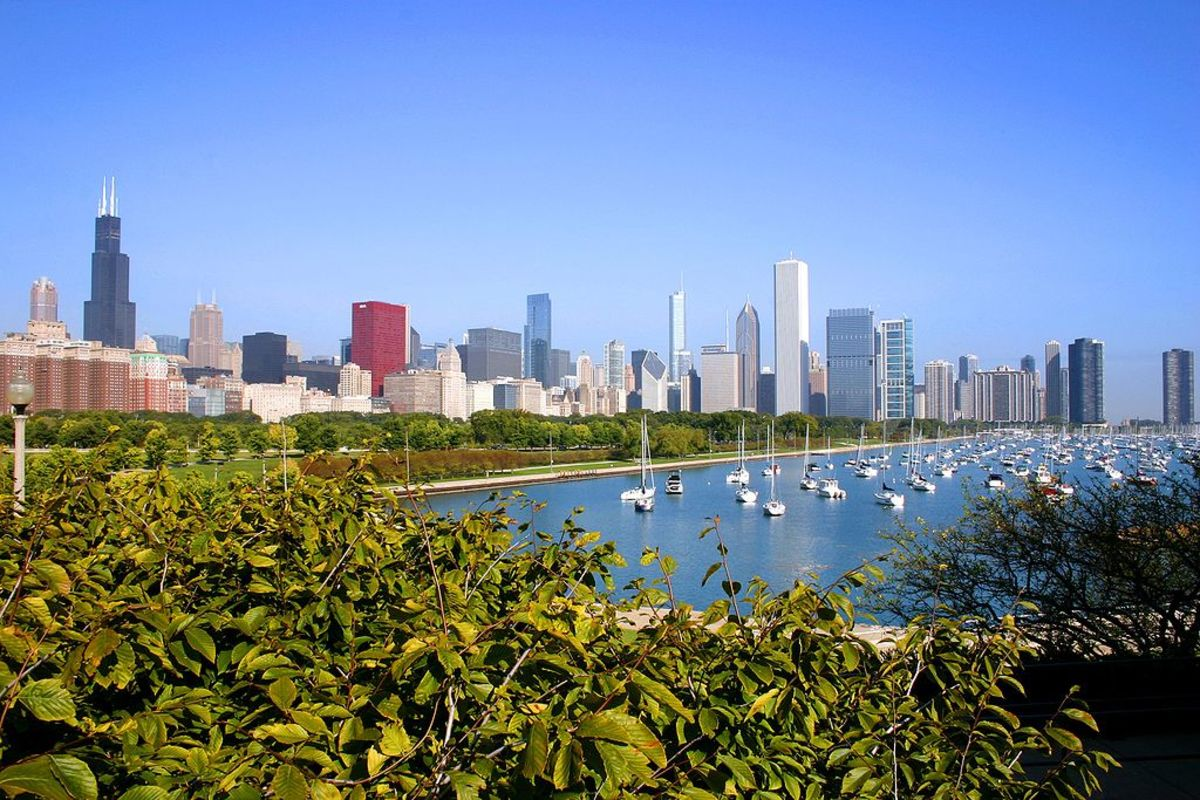 Chicago on Lake Michigan