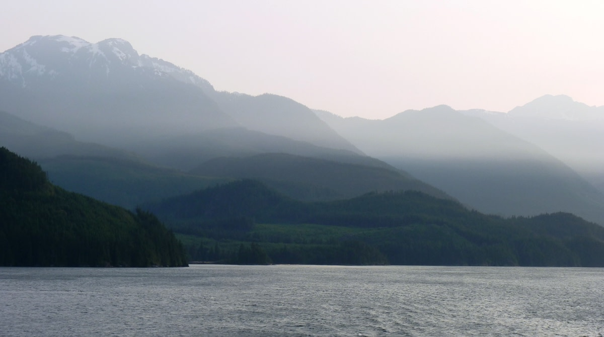 mist settling in the mountains