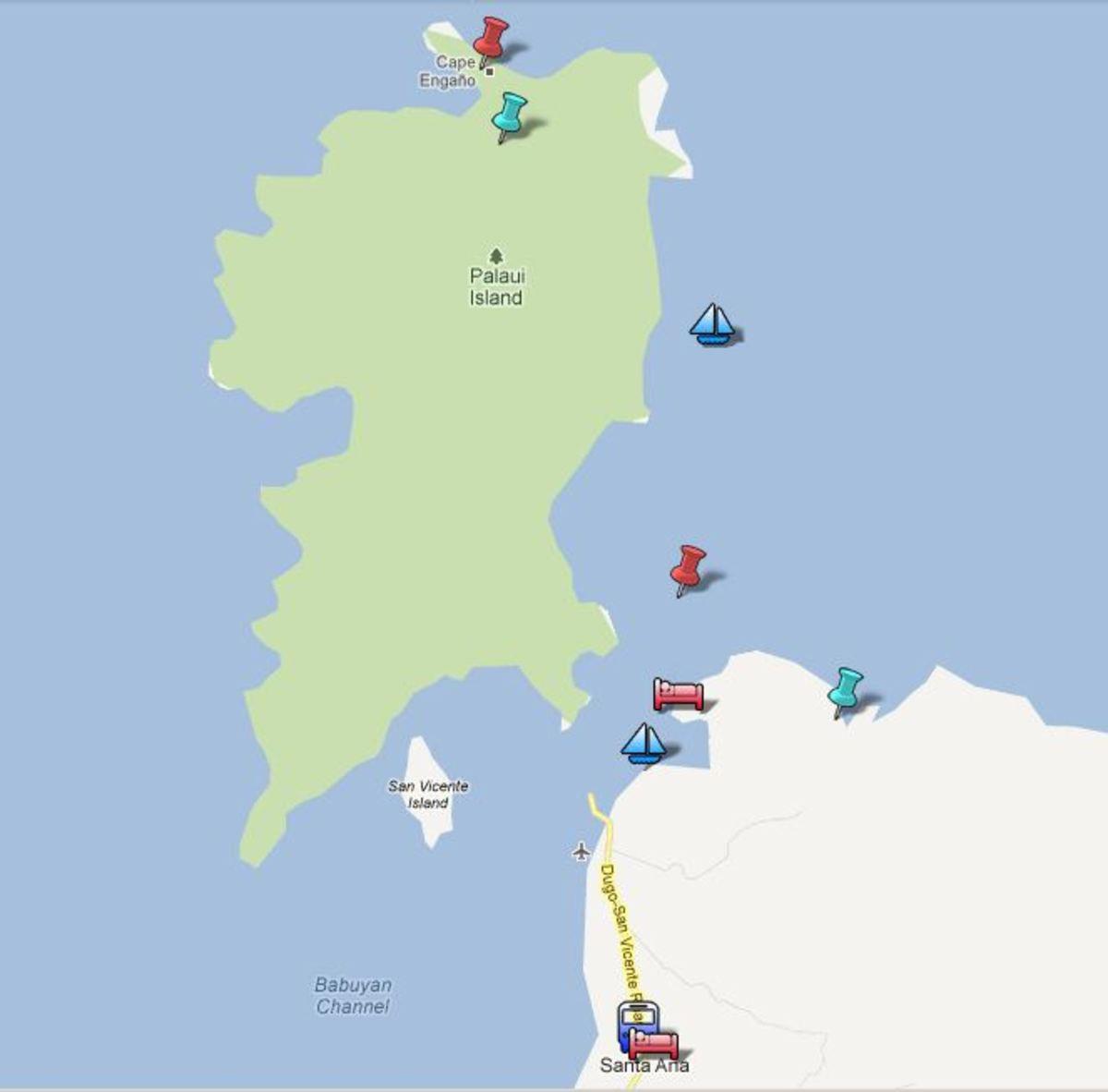Palaui Cagayan Ilocos Google tour map by munchwaffle