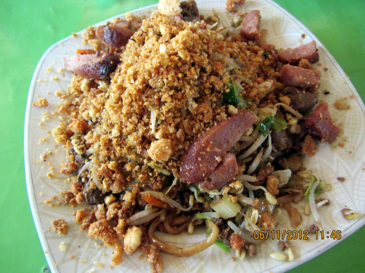 A full plate of  Pancit Batil Patung