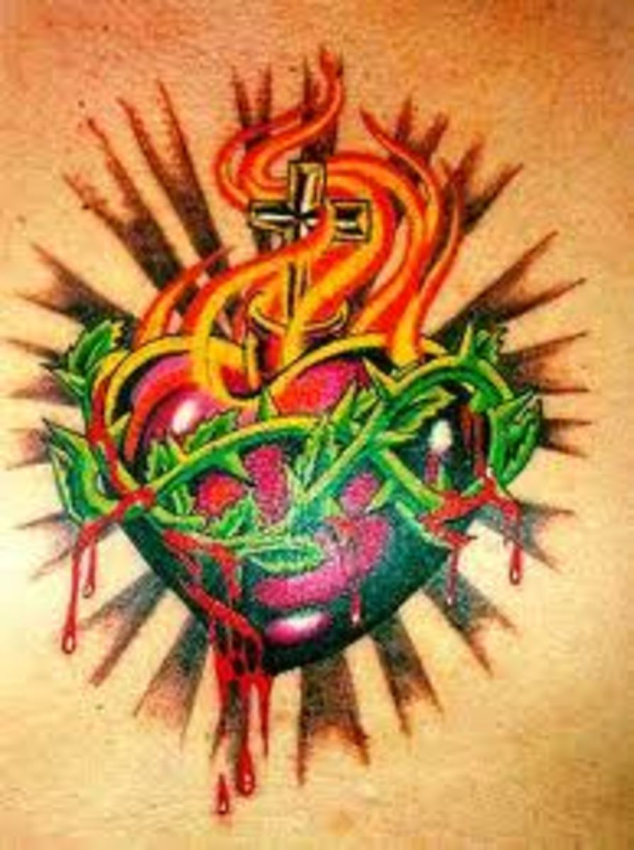Sacred Heart Tattoos And Designs-Sacred Heart Tattoo Meanings And Ideas-Sacred Heart Tattoo Pictures