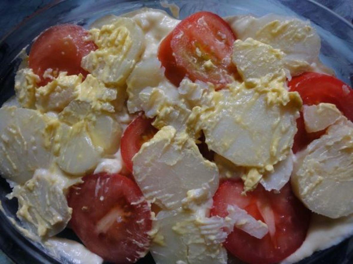 Tomato and Potato Pie ready to bake