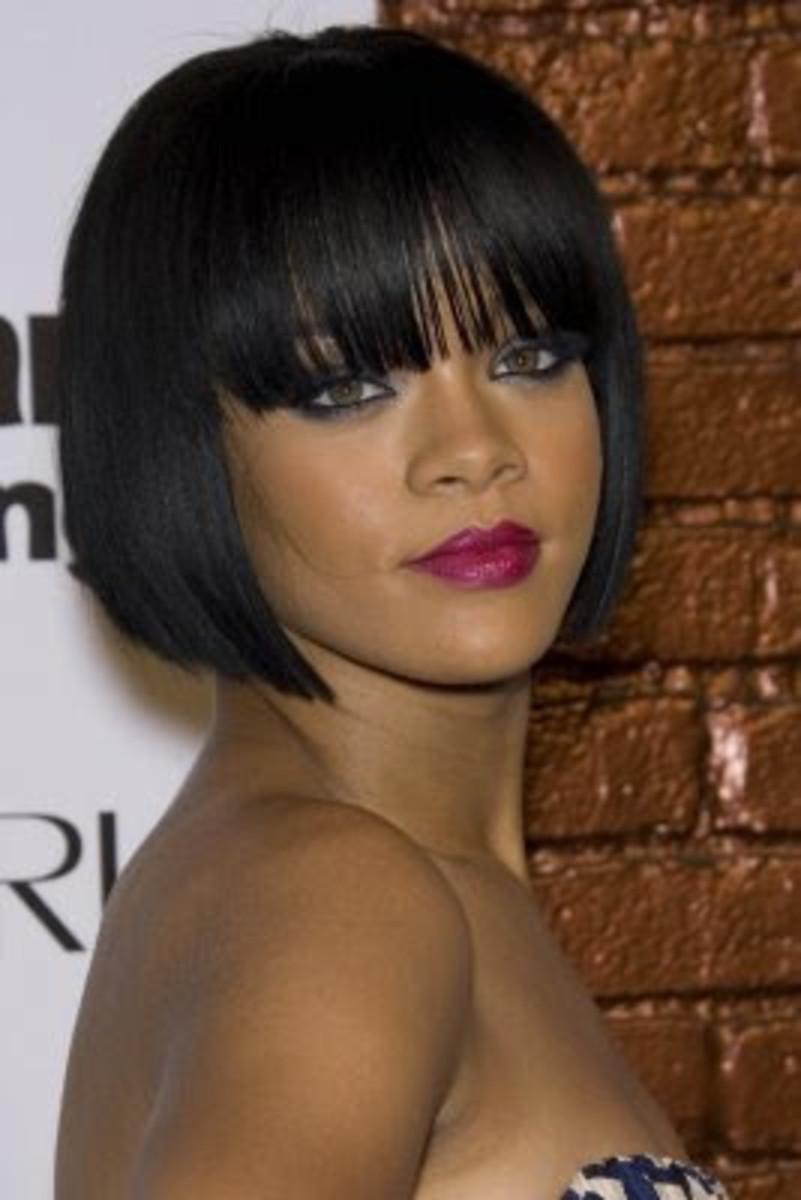 Rihanna in a 1920s-style Bob Hairdo