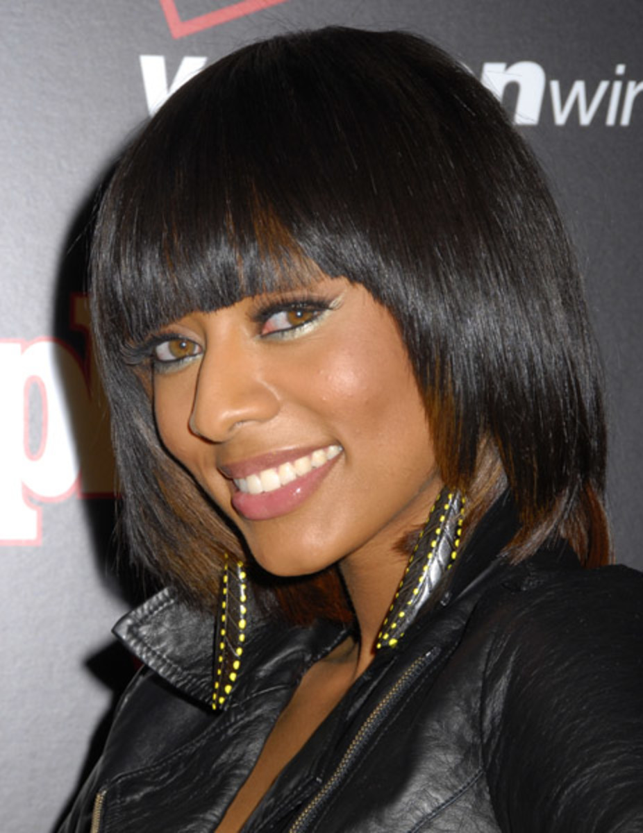 Keri Hilson in a 1980s Bob Hairstyle