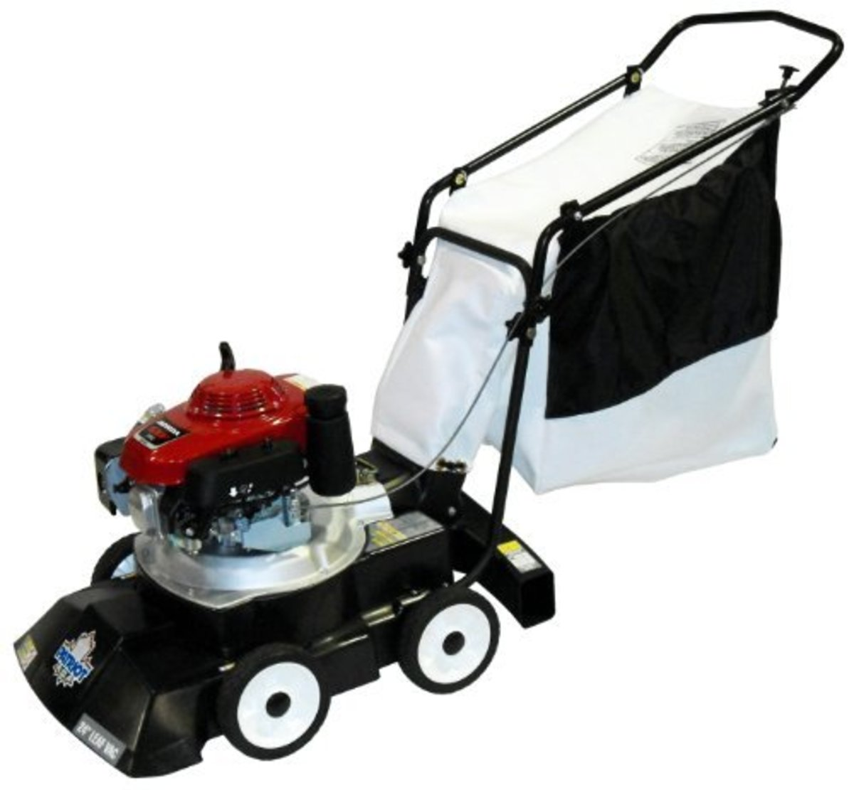 3-In-1 Leaf Vacuum/Chipper/Blower: Gas powered, not self-propelled.