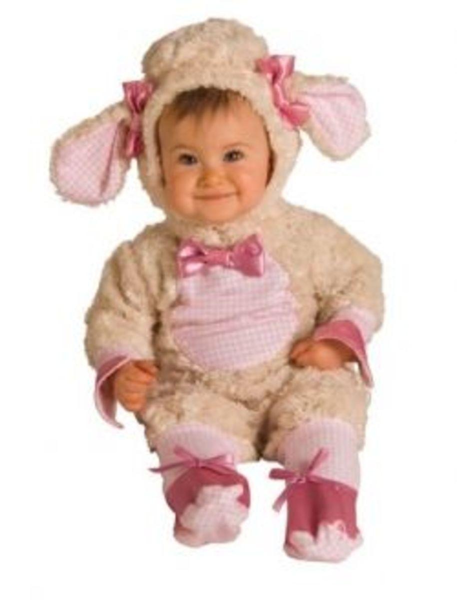 Newborn/infant Pink Lamb