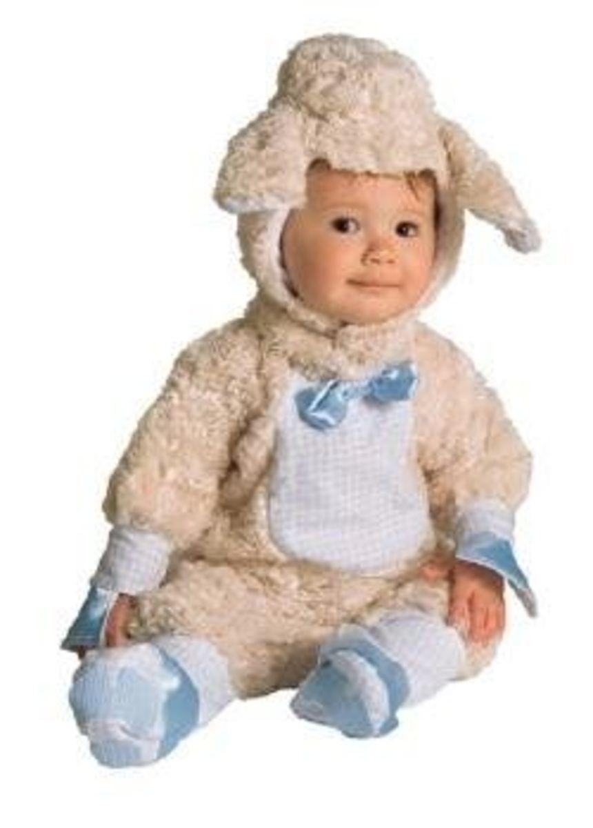 Blue Baby Lamb Costume - Newborn