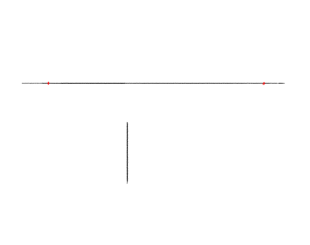 Start with a simple vertical line