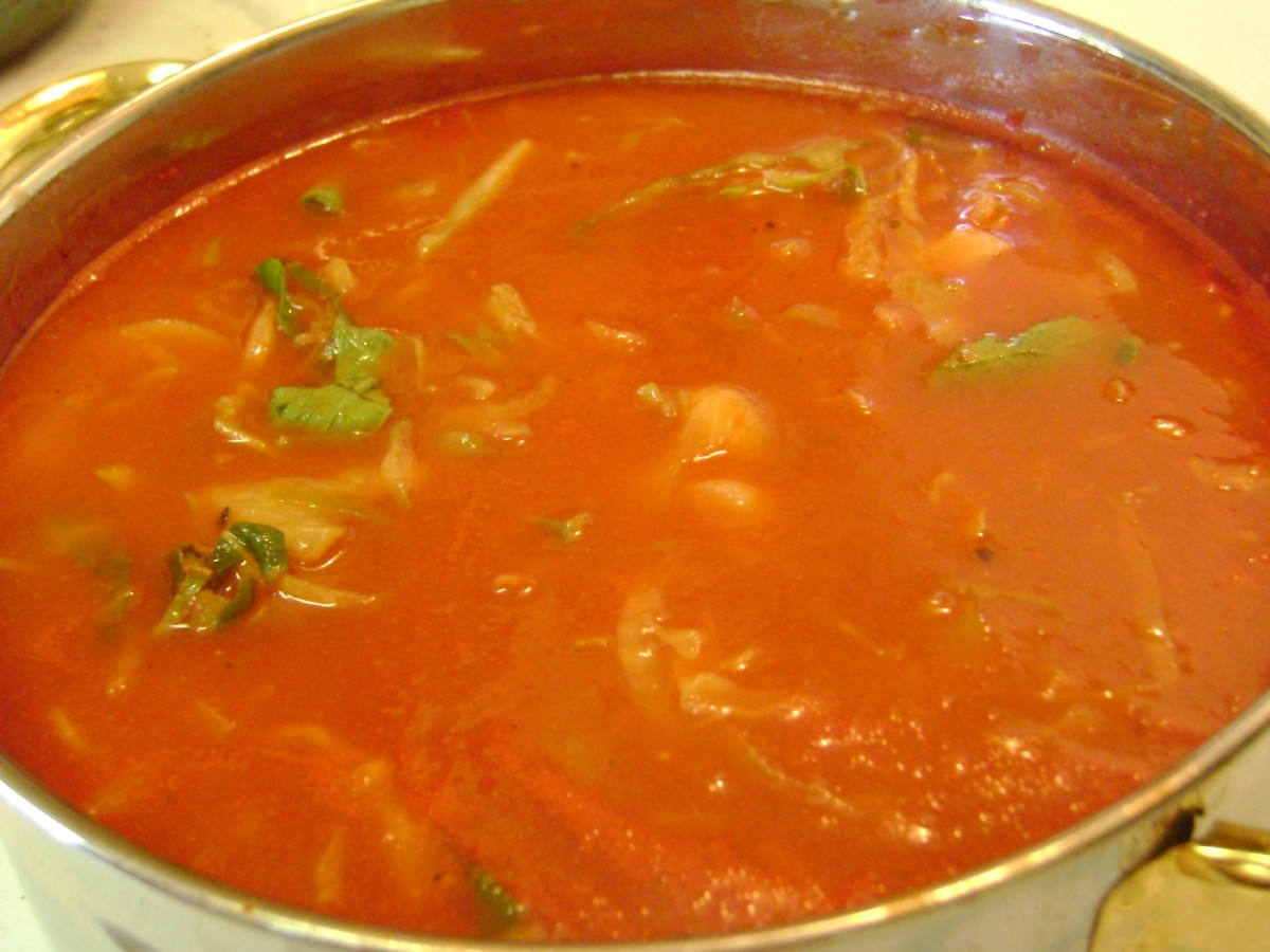 Healthy, Savory, Tomato Cabbage Soup Recipe