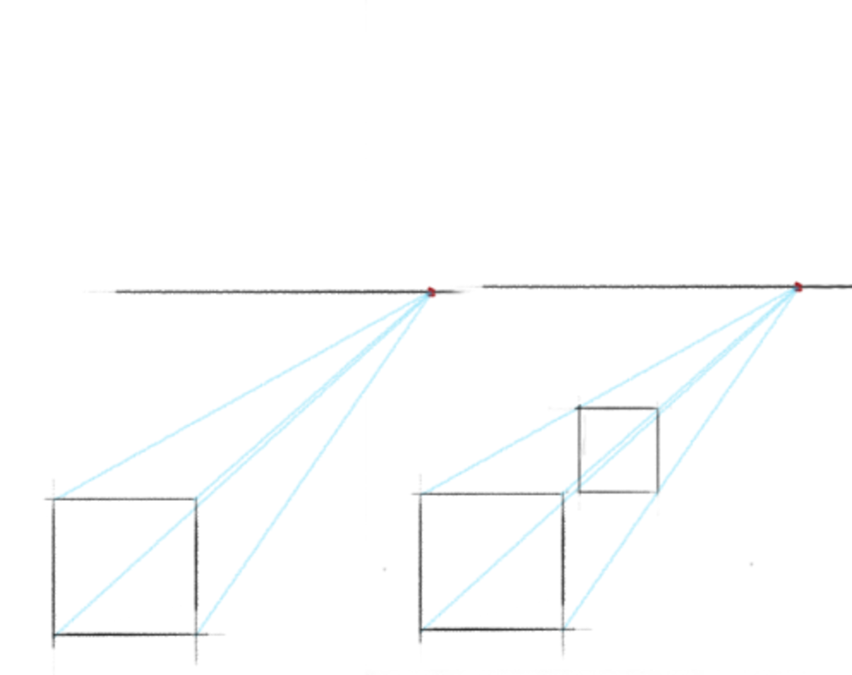 Orthogonal lines are essencial to perspective drawing