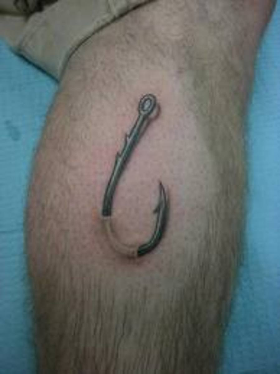 Fishing Hook Tattoo Designs