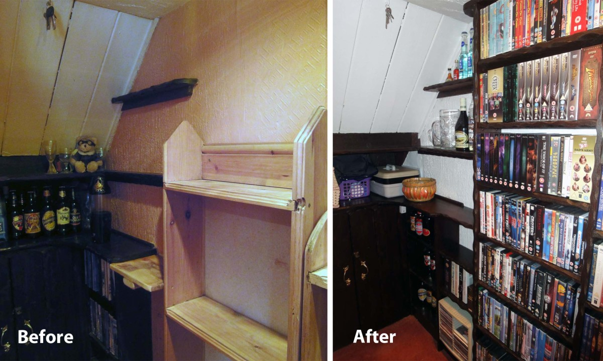 Before and After of DVD Shelf Units