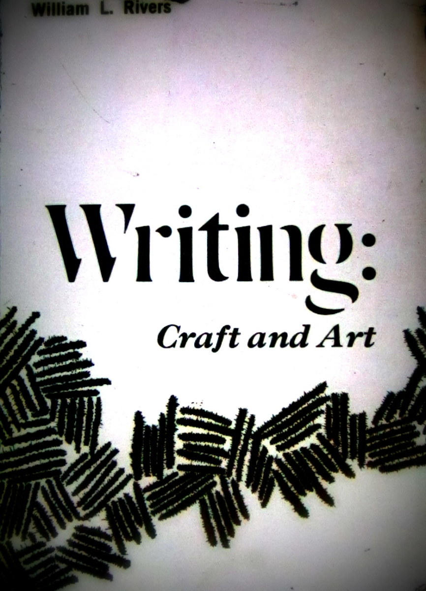 Writing really is a craft and an art--that takes a lot of practice.