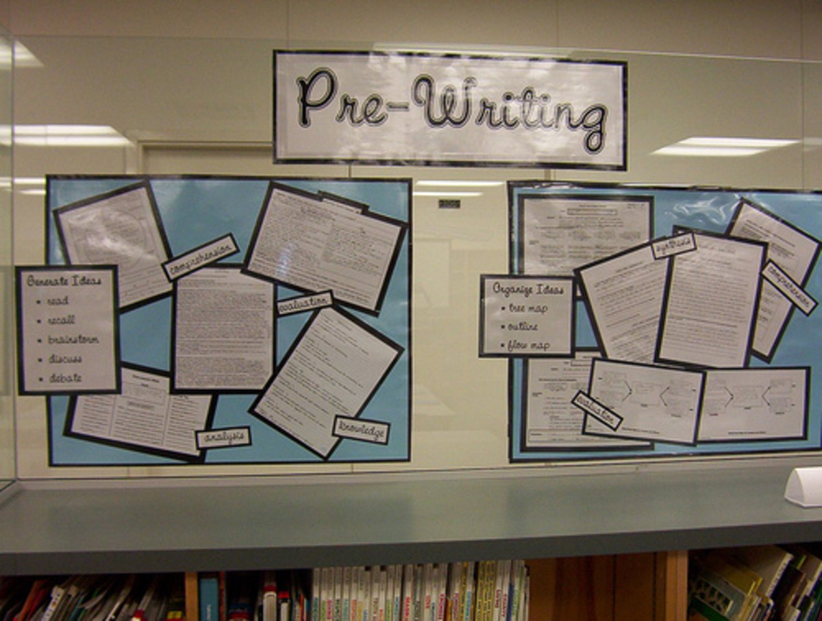 Bulletin boards are an excellent way for secondary school teachers to give visual reminders to students about the writing process.